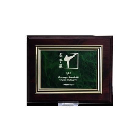 Dyplom drewniany MDF z tabliczką grawerowaną HG22