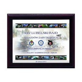 Dyplom drewniany z nadrukiem kolorowym HG26