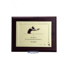 Dyplom drewniany z blaszką i nadrukiem HG422+ETUI