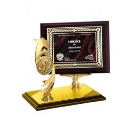 Dyplom drewniany z metalową blaszką i grawerem HG450/G