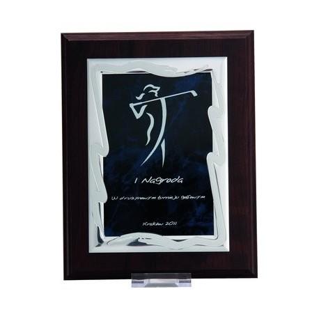 Dyplom drewniany MDF z blaszką grawerowaną HG85