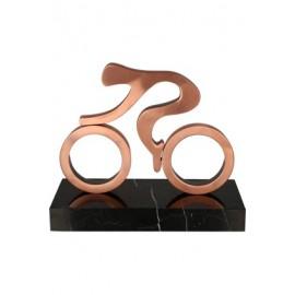 Figurka odlewana z metalu - kolarstwo MET001