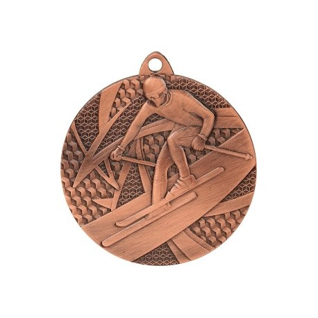Medal zjazd narciarski 50 mm / 2,5 mm MMC8150