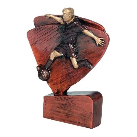 Figurka odlewana - piłka nożna- brązowa RFEL5004