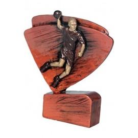 Figurka odlewana - piłka ręczna czarno-złota RFEL5009