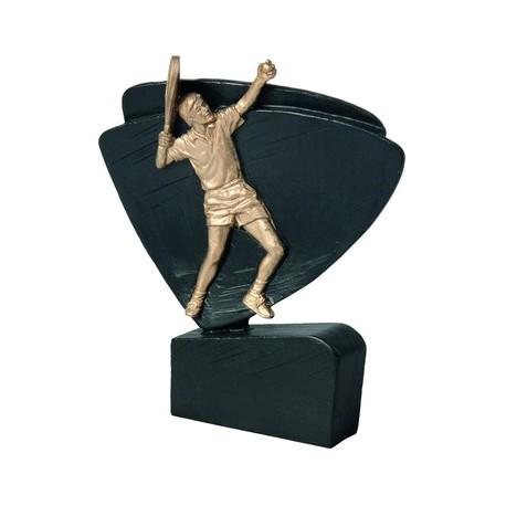 Figurka odlewana tenis ziemny czarno-złota RFEL5010