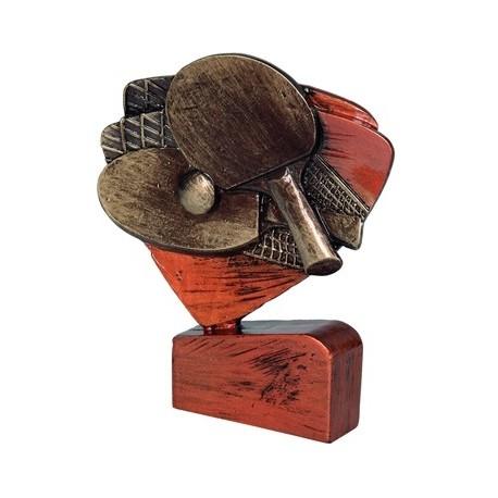 Figurka odlewana tenis stołowy brązowa RFEL5011