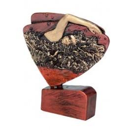 Figurka odlewana - pływanie brązowa RFEL5017
