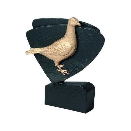 Figurka odlewana - gołąb - Wersja czarno-złota RFEL5031