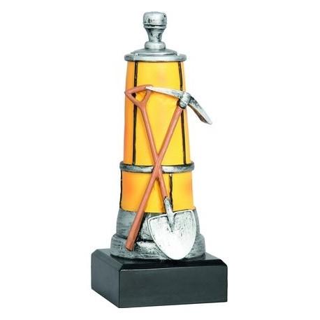 Figurka odlewana - górnictwo - lampa, młot i kilof RFST2048