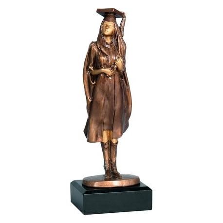 Figurka odlewana - szkolnictwo - absolwentka RFST2055