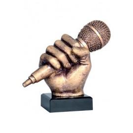Figurka odlewana - muzyka - mikrofon RFST2074