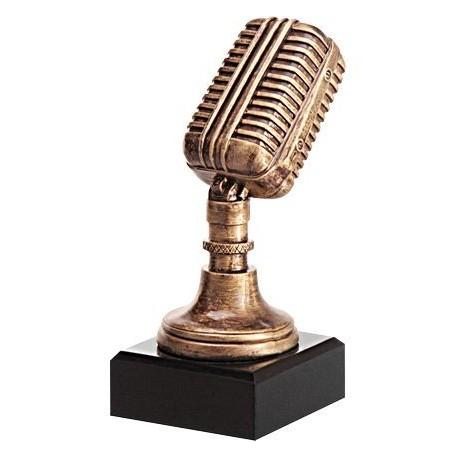 Figurka odlewana - muzyka - mikrofon RFST2079
