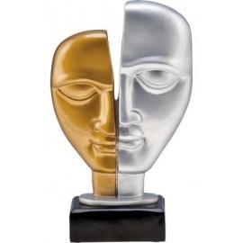 Figurka odlewana - złoto-srebrna - teatr RFST2093
