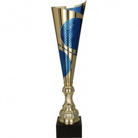 Puchar metalowy złoto-niebieski 3123