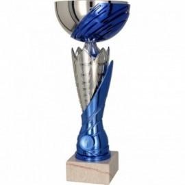 Puchar metalowy srebrno-niebieski 4168