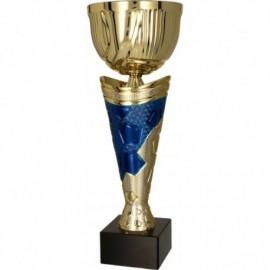 Puchar metalowy złoto-niebieski 4171