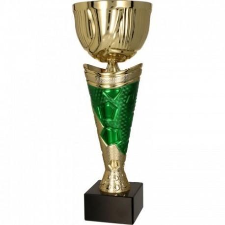 Puchar metalowy złoto-zielony 4172