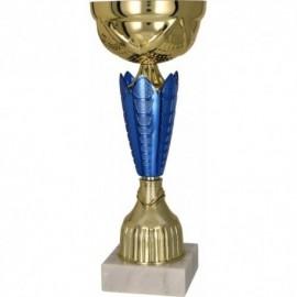 Puchar metalowy złoto-niebieski 8289