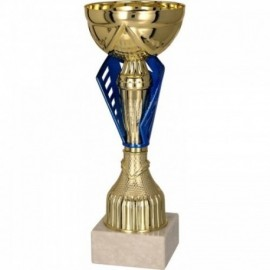 Puchar metalowy złoto-niebieski 8294
