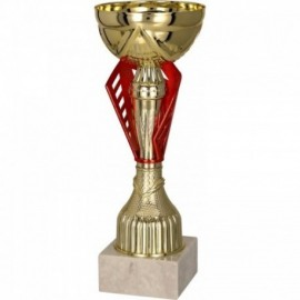 Puchar metalowy złoto-czerwony 8295
