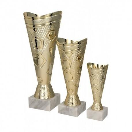Puchar plastikowy złoty 8299