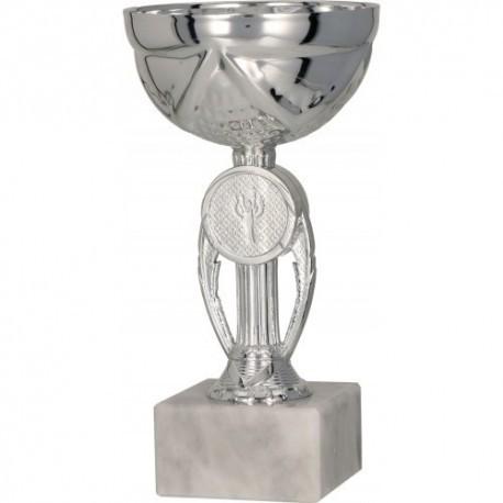 puchar metalowy srebrny 9078