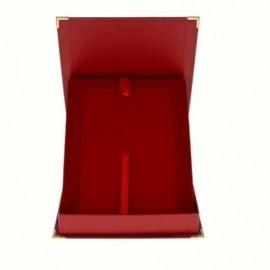 Ekskluzywne etui z tworzywa sztucznego czerwone -pionowe BTY16/EX/V