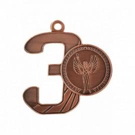 Medal z miejscem na emblemat 25 mm - medal stalowy MMC16050