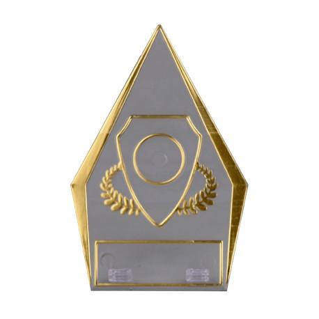 Trofeum plastikowe - przezroczysto - złote T-M 50161/T-G