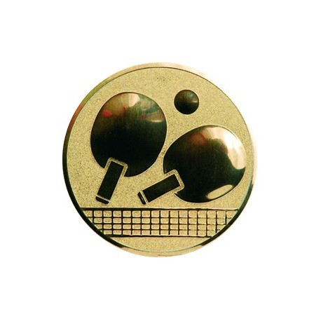 Wklejka aluminiowa - złoto, srebro, brąz - tenis stołowy A46