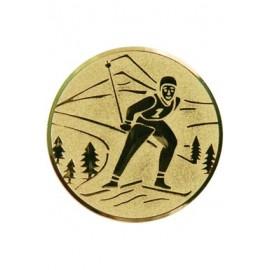 Wklejka aluminiowa - złoto - narciarstwo A94/G
