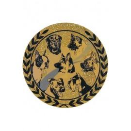 Emblemat hologramowy - psy AGM57