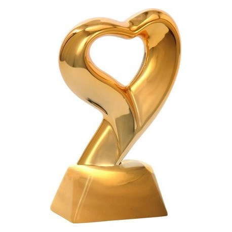 Figurka ceramiczna - złote serce CE550