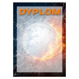dyplom papierwoy - siatkówka DYP101