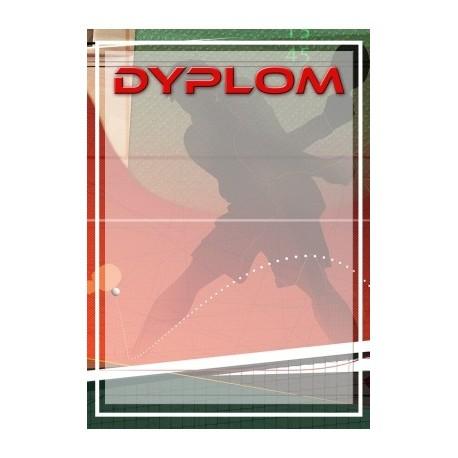 dyplom papierowy - tenis stołowy DYP102