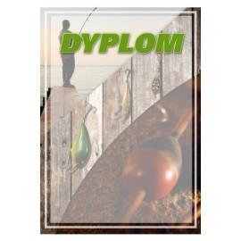 dyplom papierowy- wędkarstwo DYP104