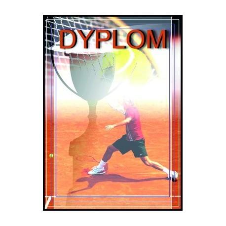 Dyplom papierowy - tenis ziemny DYP68