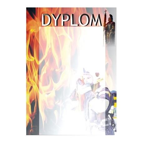 Dyplom papierowy - strażactwo DYP72
