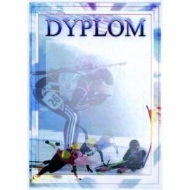Dyplom papierowy - sporty zimowe DYP84
