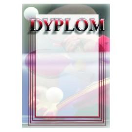 Dyplom papierowy - tenis stołowy DYP93