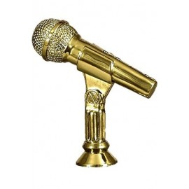 Figurka plastikowa - muzyka - mikrofon F174